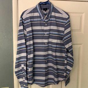J. Crew Horizontal Striped Casual Dress Shirt Slim